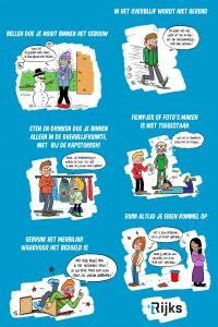 Poster voor RSG 't Rijks over enkele schoolregels