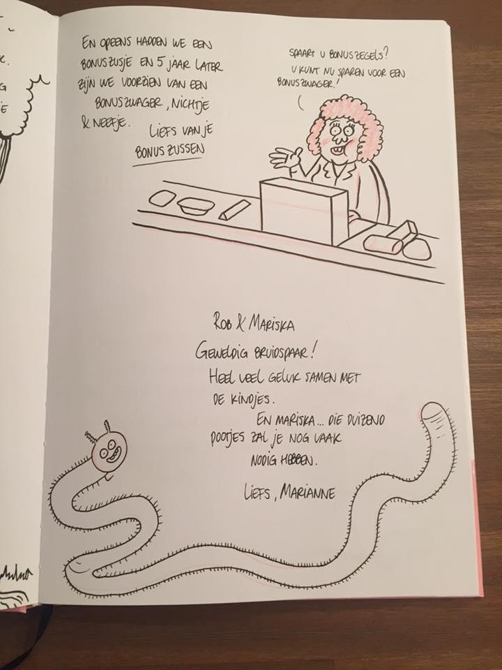 Gastenboek tekening 2