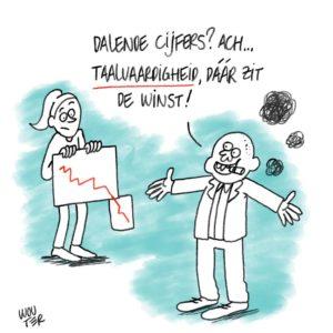 Live cartoon over laaggeletterdheid