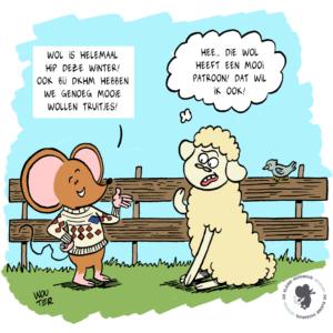 Cartoon voor webshop De kleine huismuis